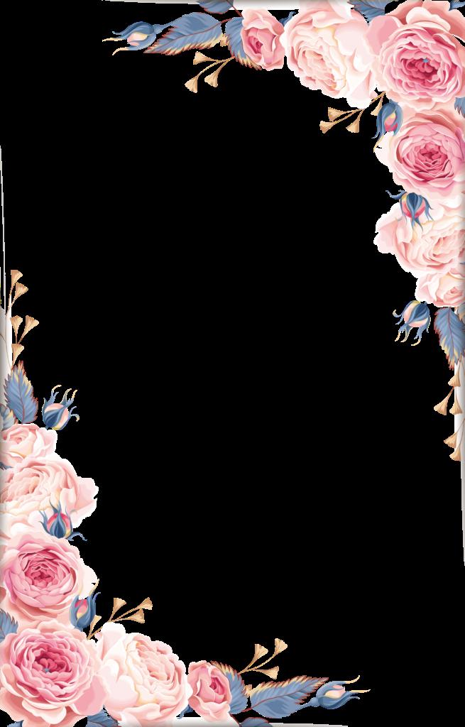 Floral Frame PNG Transparent Images.