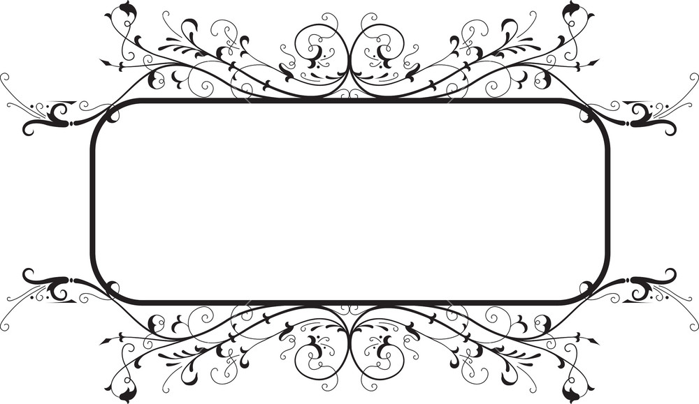 Floral Frame Vector Element Royalty.