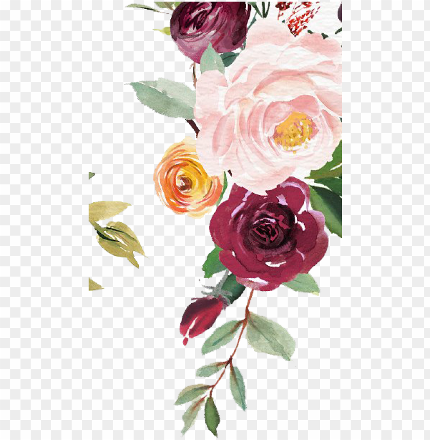 jpg library download free watercolor floral clipart.