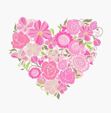 Pink Floral Heart Clipart Picture Free Download.