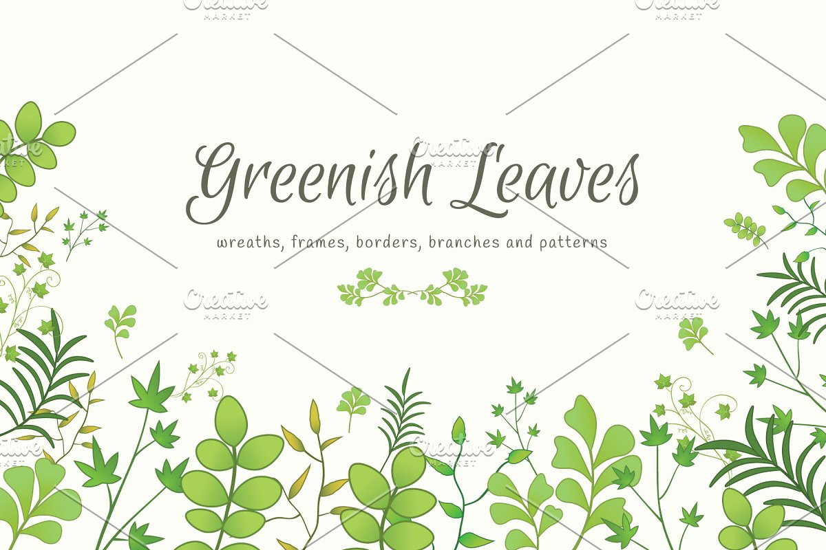 Greenish Leaves Bundle.