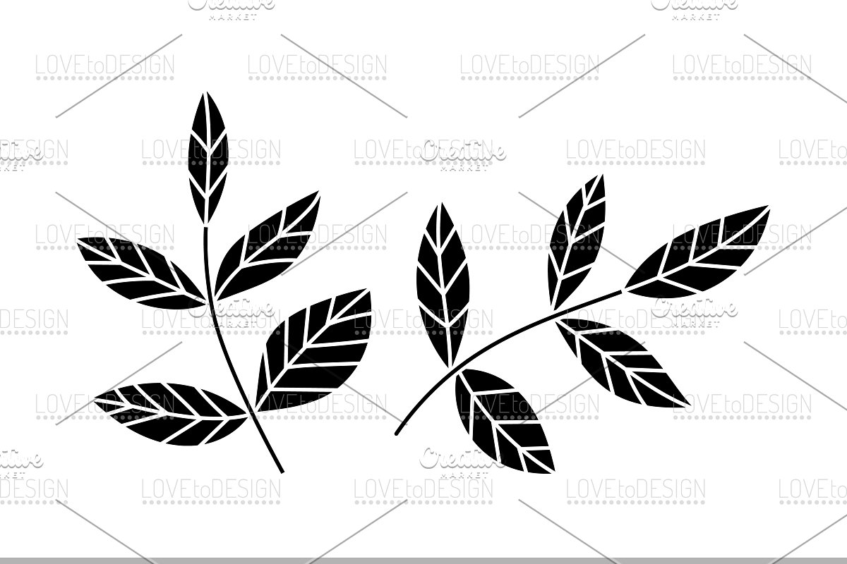 leaves clipart, leaves silhouette.