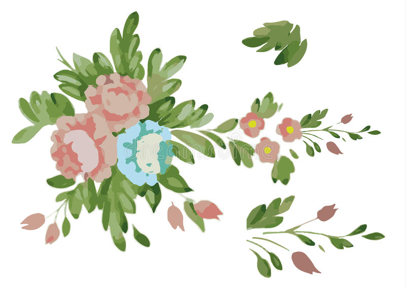 Flower with leaves clipart 3 » Clipart Station.