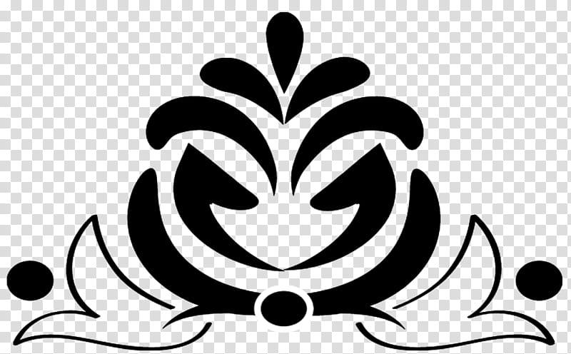 Decorative Brushes , black floral logo transparent.