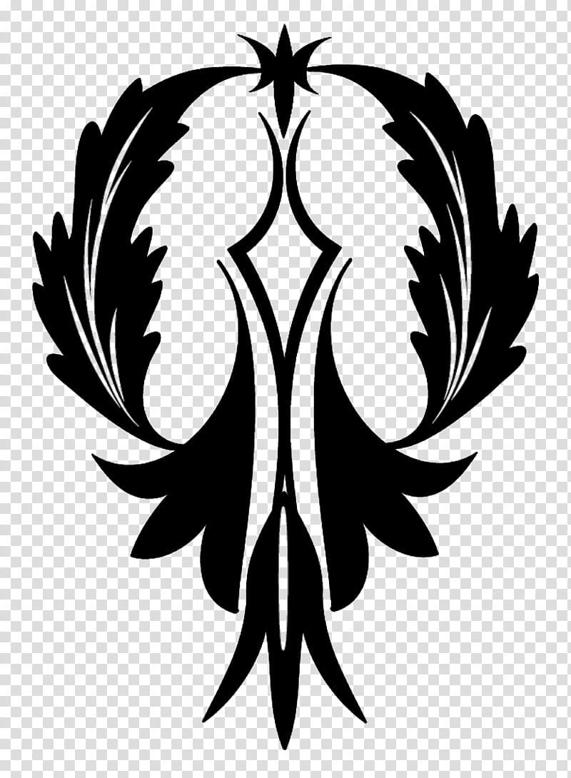Decorations Brushes, black floral logo transparent.