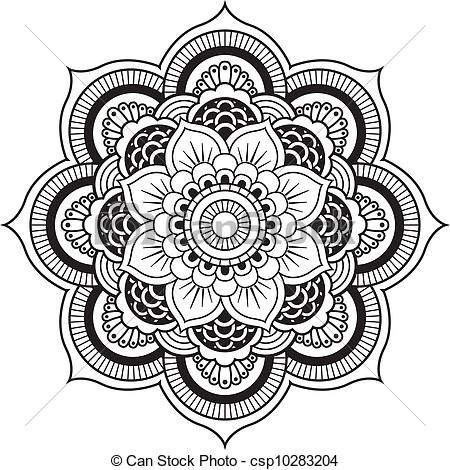 Vectors of Henna Flower Mandala Vector Designs.