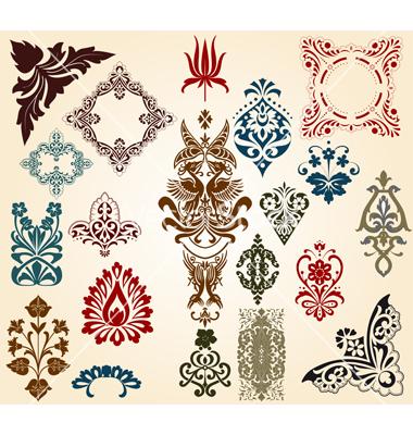 floral motif clipart clipground. Black Bedroom Furniture Sets. Home Design Ideas