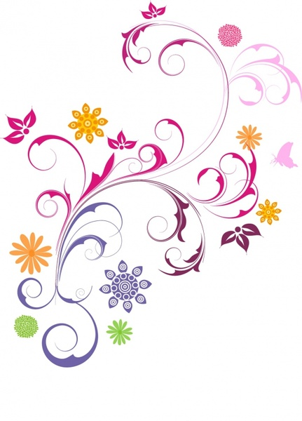 Floral Ornament Free vector in Adobe Illustrator ai ( .AI.