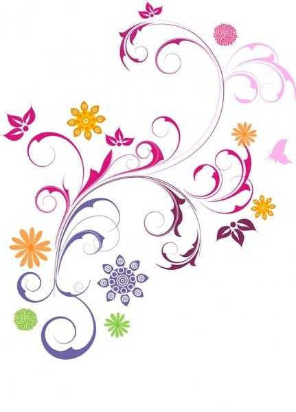 Floral Ornament Free vector in Adobe Illustrator ai ( .AI.