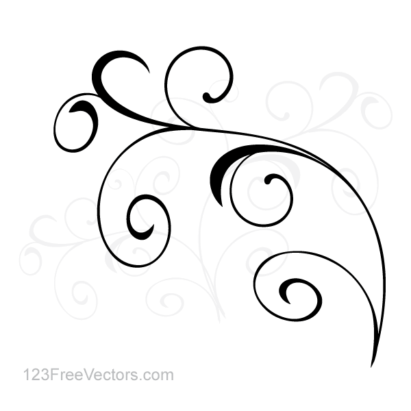 Vector Simple Floral Ornament Background.