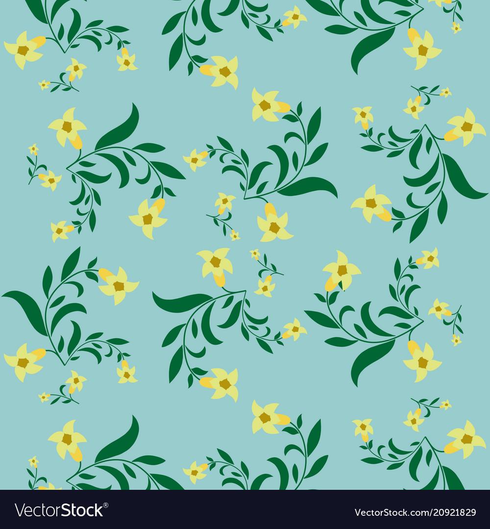 Simple vintage floral pattern.