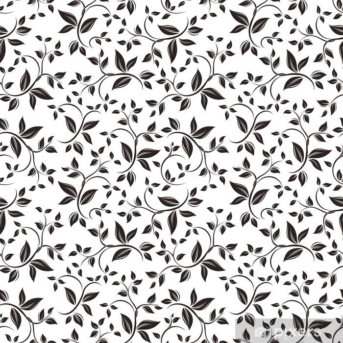 Seamless floral pattern. Vector illustration. Wall Mural.