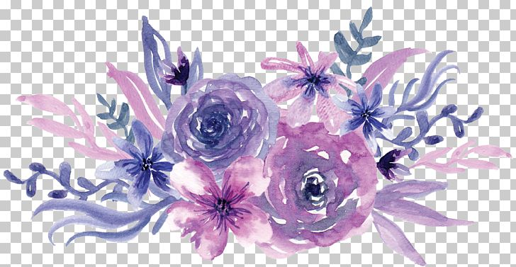 Watercolor Painting Flower Purple PNG, Clipart, Artificial.