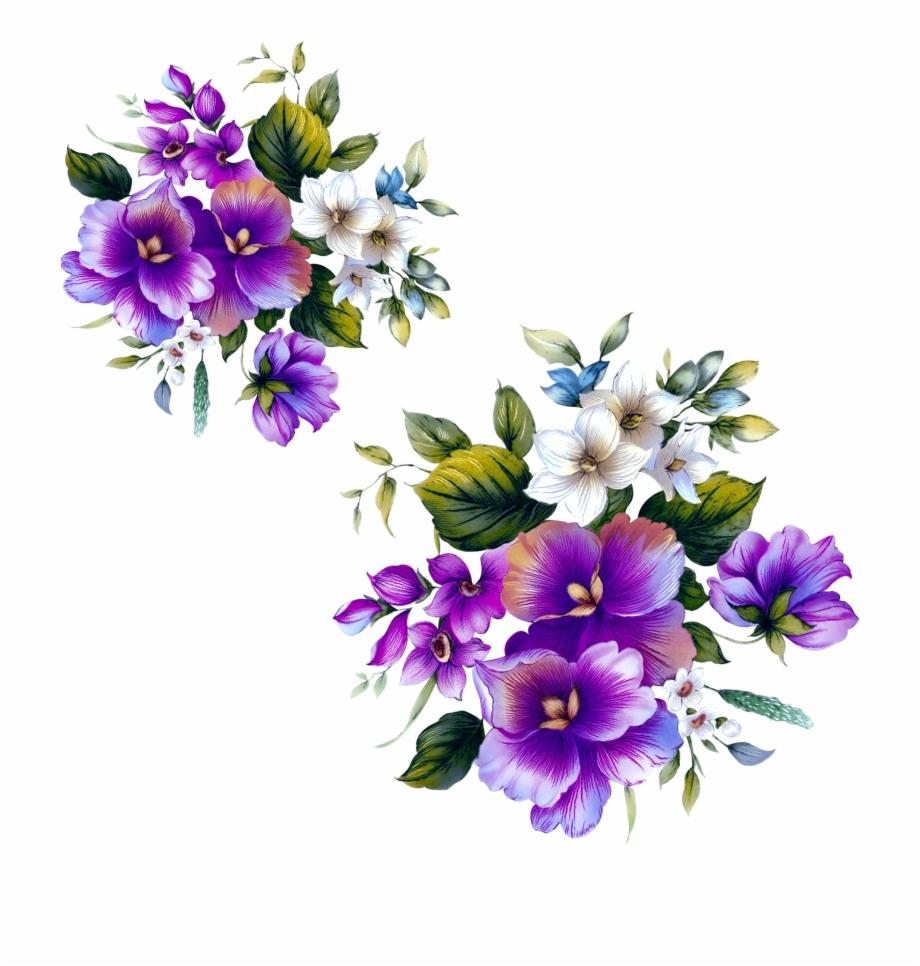 Floral Design Flower Purple.