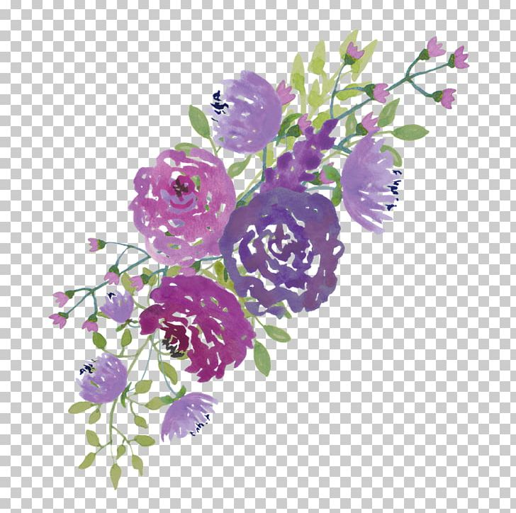 Wedding Invitation Watercolour Flowers Purple PNG, Clipart, Bride.