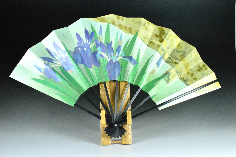 IRIS Entwurf Hand Lüfter Papier Ventilatoren von JapaVintage.