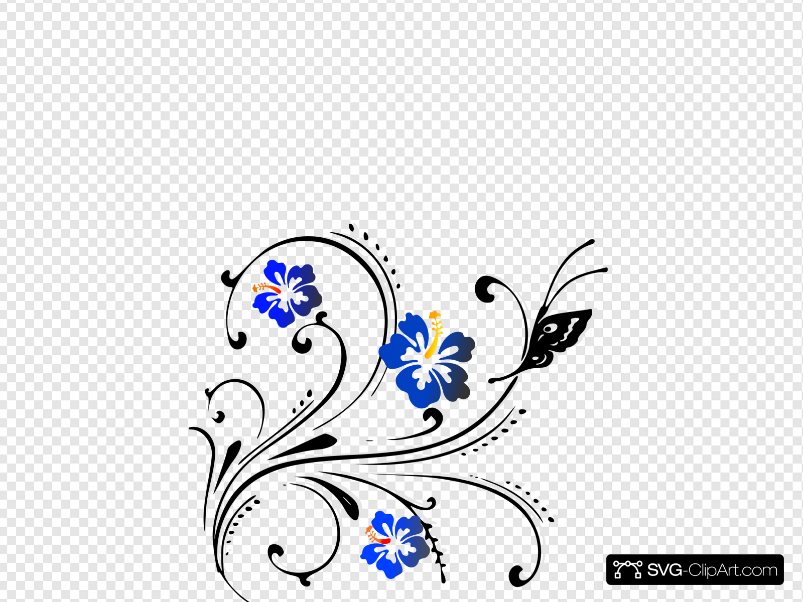 Butterfly Scroll Clip art, Icon and SVG.