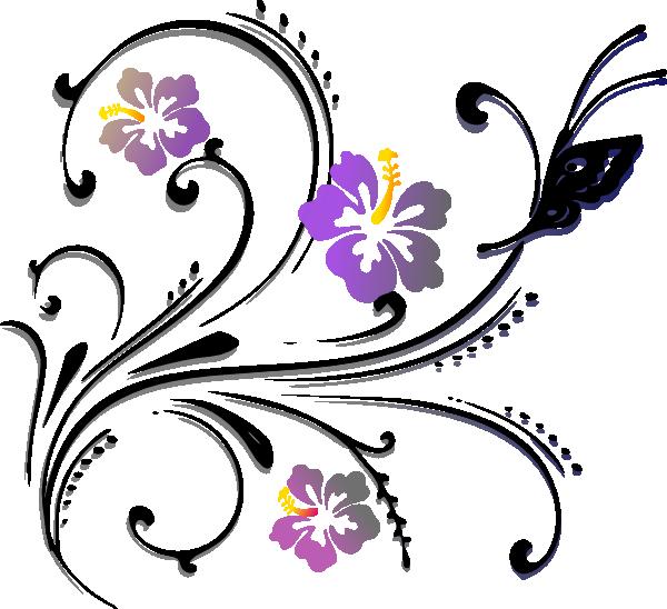 Scroll clipart floral scroll, Scroll floral scroll.