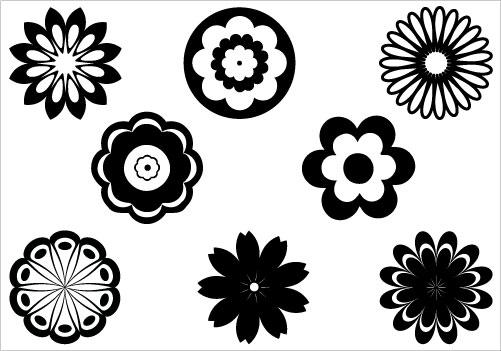 Flower clip art silhouette.