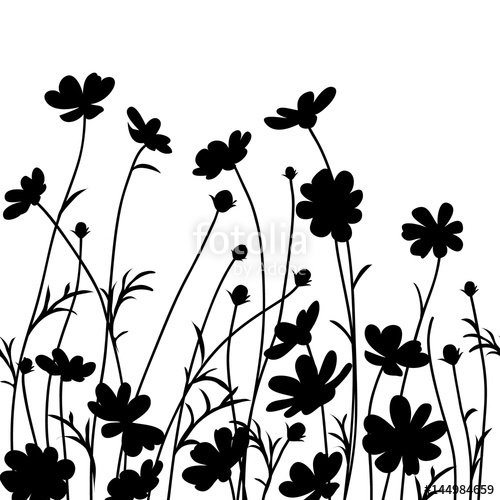 Flower Line Silhouette.
