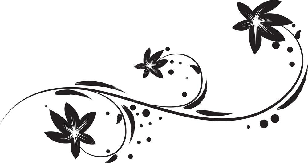 Vector Floral Swirl Royalty.
