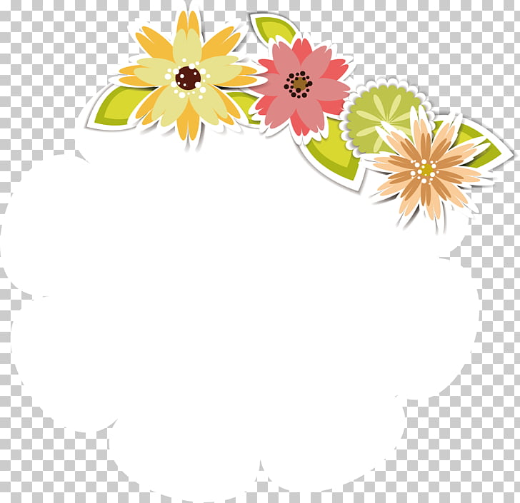 Floral design Flower Template, Cute floral decoration.