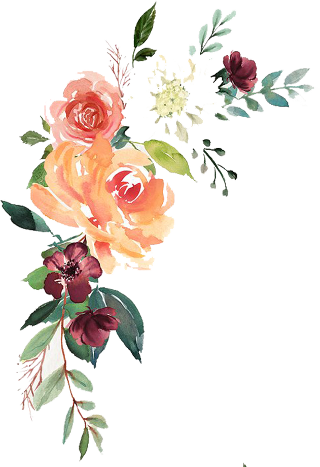Watercolor Floral Transparent Png.