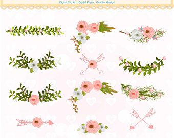 Floral Borders Clipart.
