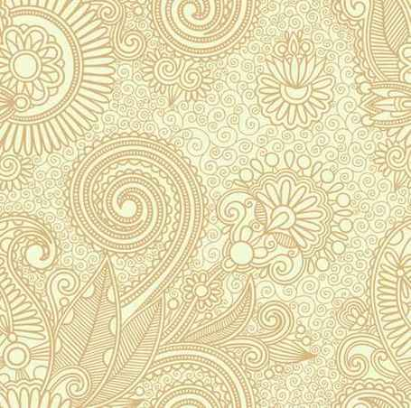 Vector Floral Pattern Background Clipart Picture.