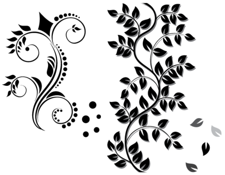 Floral Ornament Vector Free Download Clipart Picture.