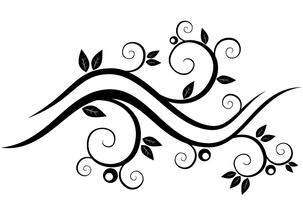 Abstract Wavy Floral Vector Graphics.