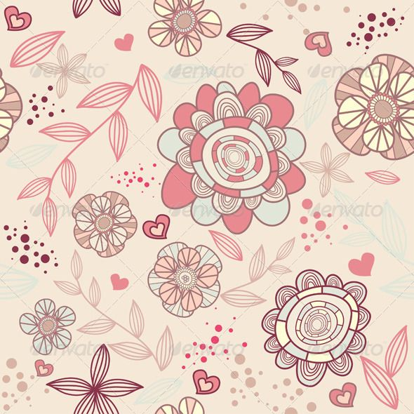 Seamless Floral Wallpaper.