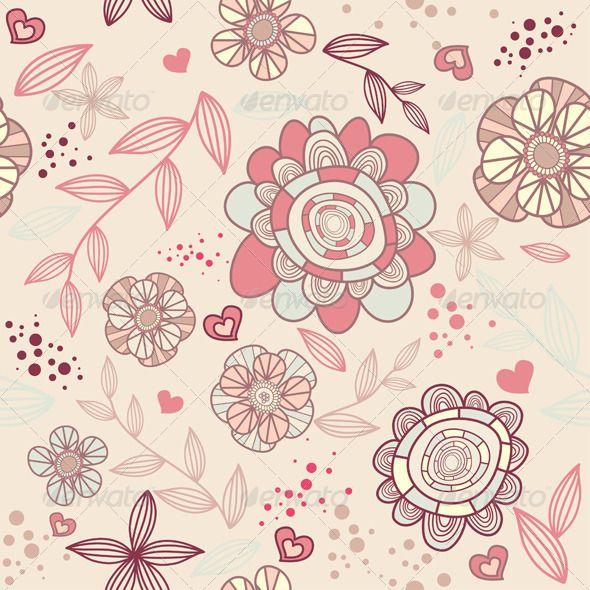 Seamless Floral Wallpaper.