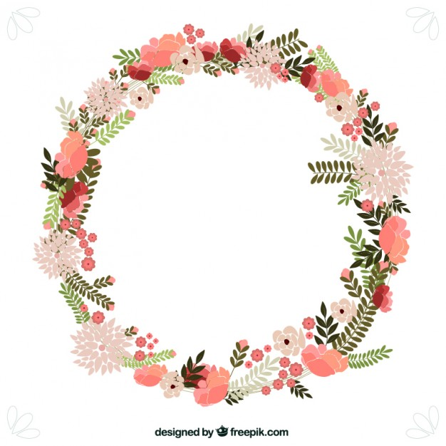 circle flower wreath clipart #3