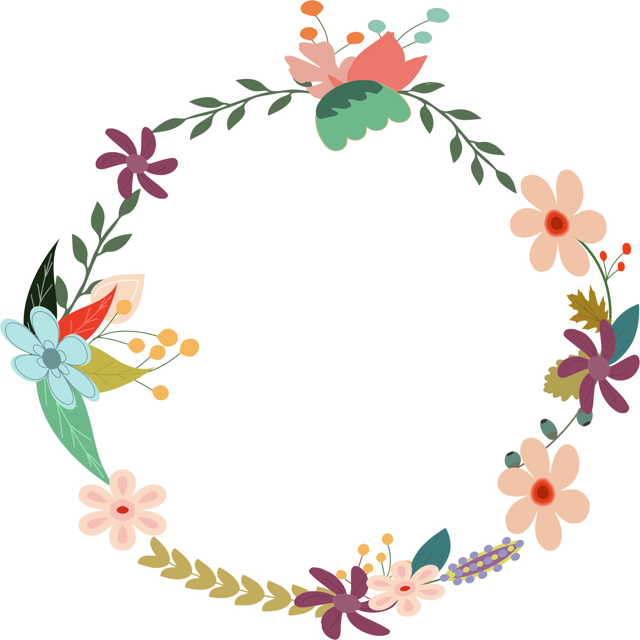 Floral wreath clipart 20 free Cliparts | Download images ...