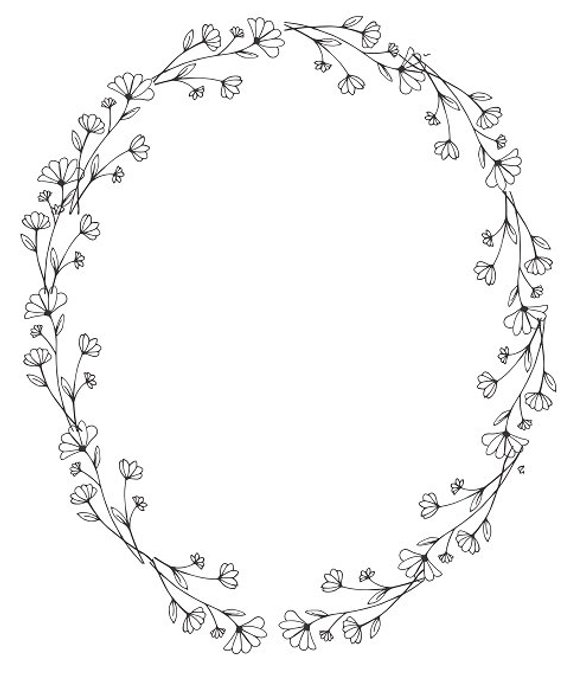 Floral Wreath Clipart Black And White (102+ images in Collection) Page 2.