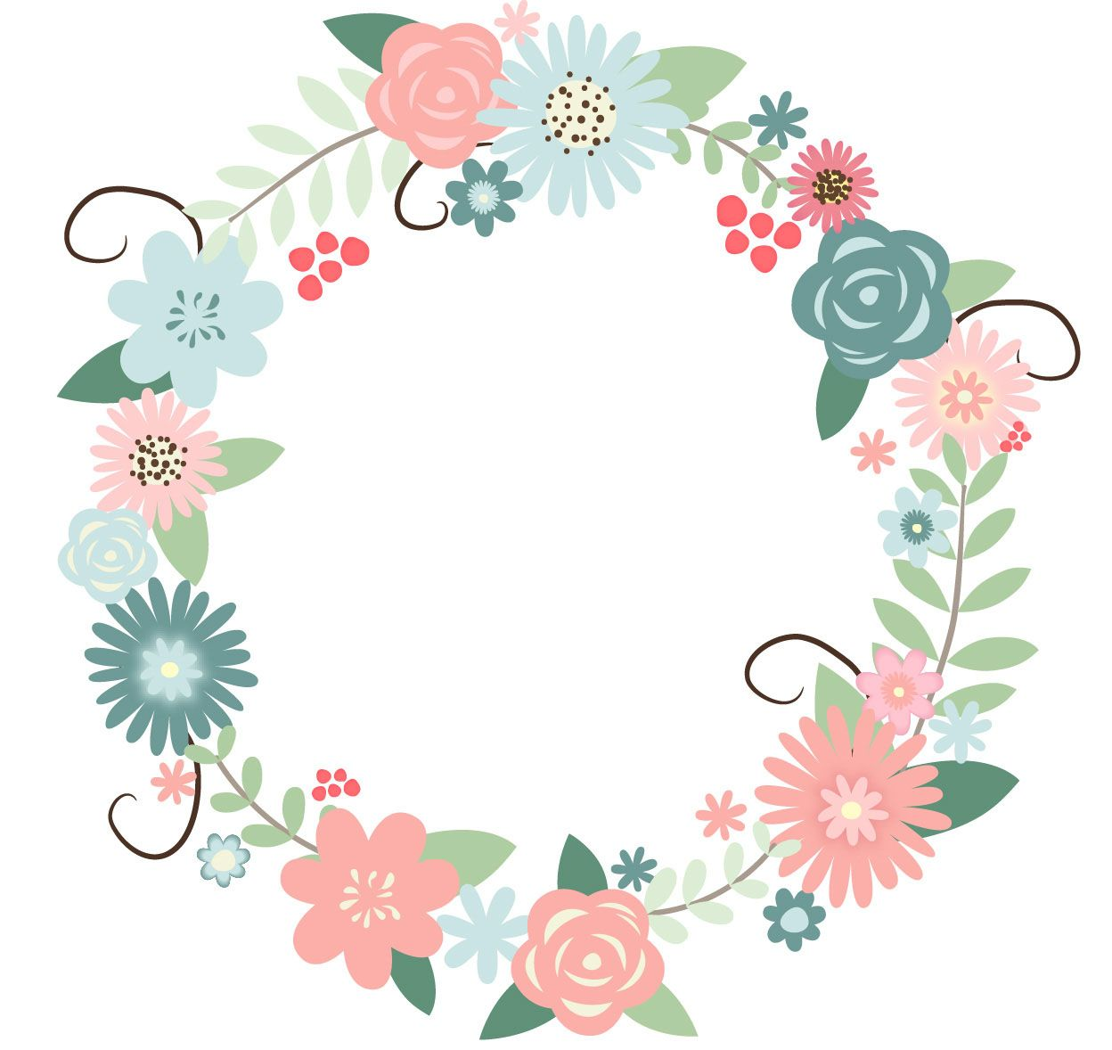 recolored floral wreath..