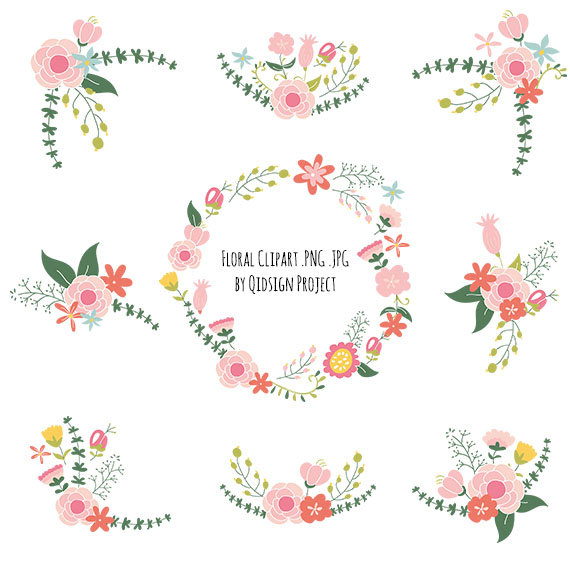 Flowers Clipart Pack FLOWER CLIP ART PackVintage
