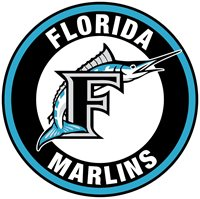 Florida Marlins logo Circle Logo Vinyl Decal Sticker 5 sizes!!.