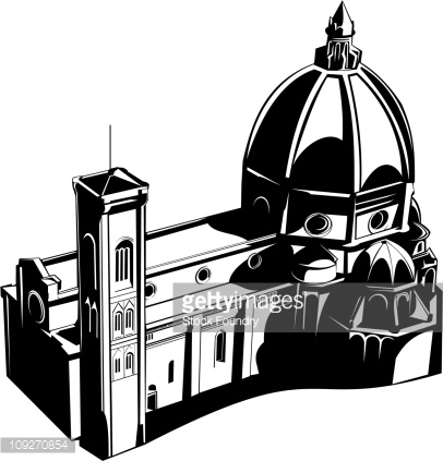 Florence Cathedral Vector Art.