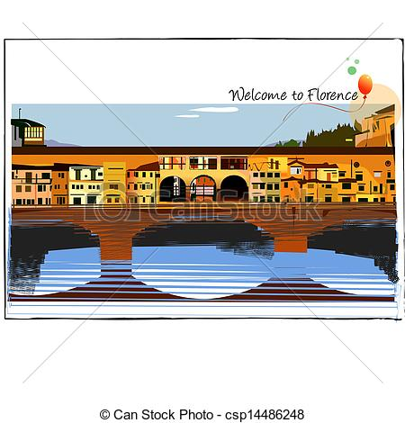 EPS Vector of Florence background csp14486248.