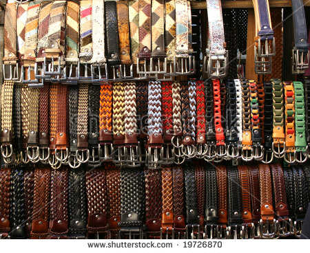 Belts Leather Lot Stock Photos, Royalty.
