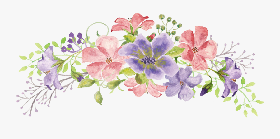 Ftestickers Watercolor Flowers Swag Colorful Freetoedit.