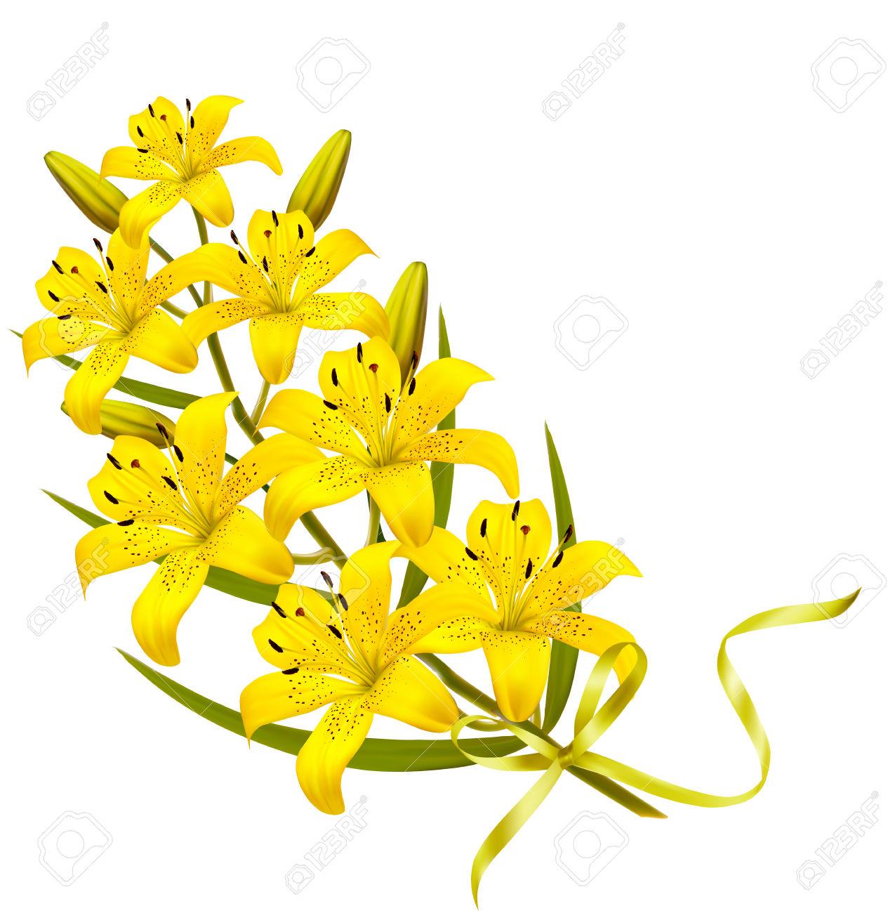 Holiday Fondo De Flores Amarillas. Vector. Ilustraciones.