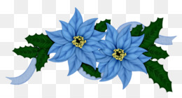 Flores Azules PNG.