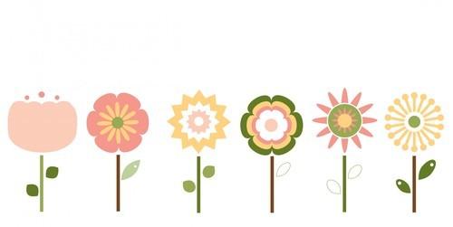 Clipart de flores aislada.