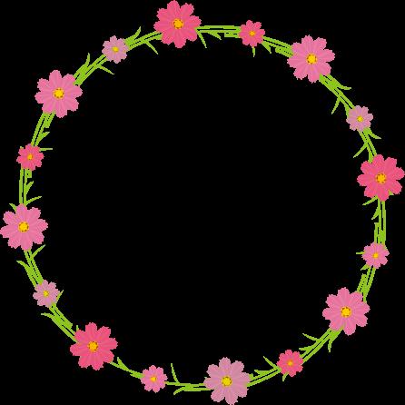 Circulo De Flores Em Png Vector, Clipart, PSD.