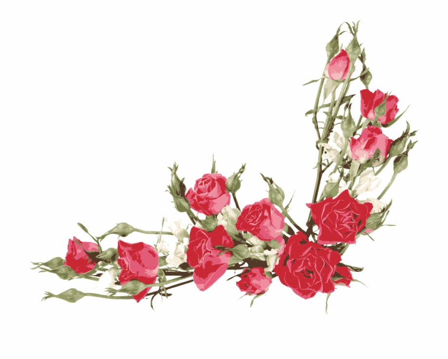 Vector Library Flower Bouquet Clip Art Red Transprent.