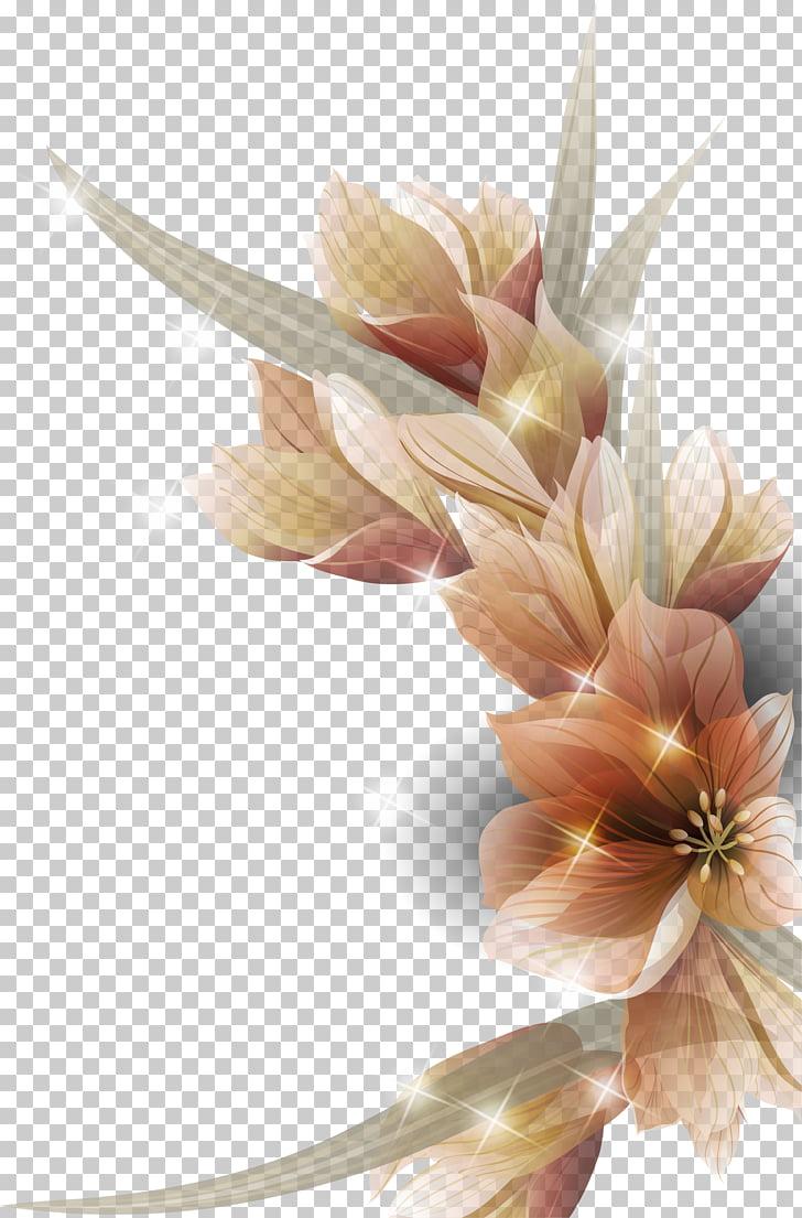 Flor de diseño floral, hermosas y coloridas flores. PNG.