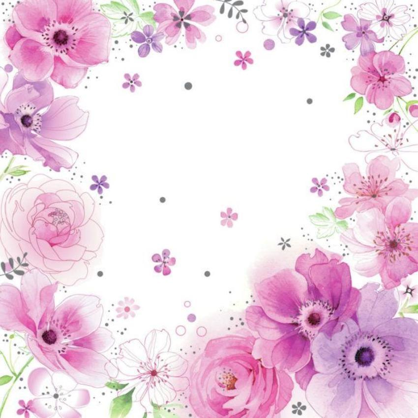 Flores rosas moradas lilas.